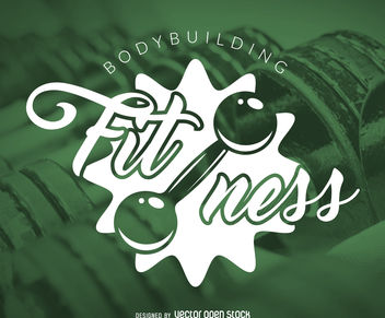 Fitness gym logo - vector gratuit #376943