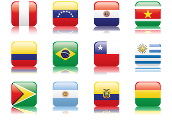 Peru and South America Flag - vector gratuit #377033