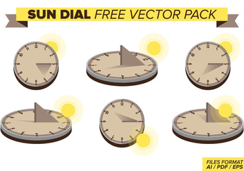 Sun Dial Free Vector Pack - vector gratuit #377153