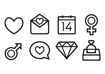 Free Wedding Icon Set - vector gratuit #377163