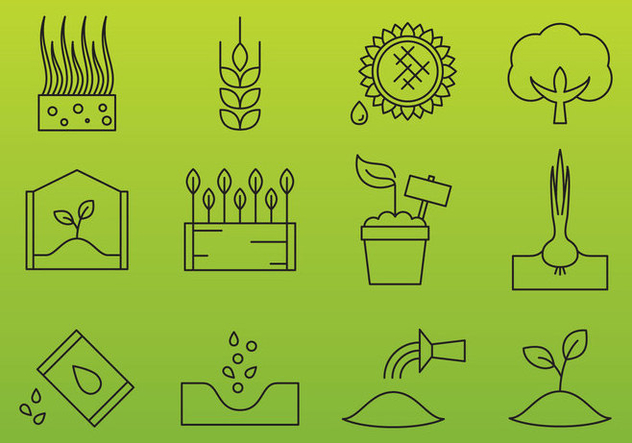 Agriculture Industry Icons - Kostenloses vector #377293