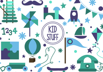 Free Kid Stuff Vector - vector #377313 gratis