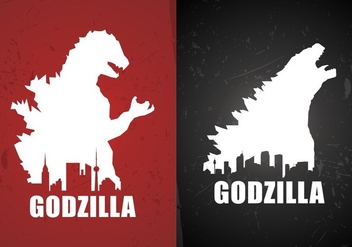Godzilla Movie Poster Backgrounds Free Vector - бесплатный vector #377403