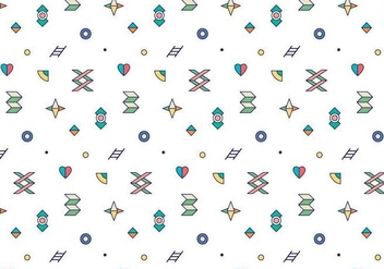 Colorful Outline Geometric Pattern - vector gratuit #377463