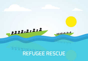 Free On Boat Of Rescue Vector - vector gratuit #377493