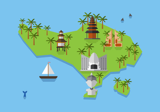 Vector Bali Map - Free vector #377503