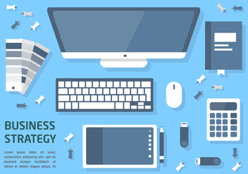 Free Flat Business Strategy Vector Illustration - бесплатный vector #377533