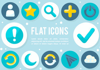 Free Flat Icons Vector Background - Kostenloses vector #377553
