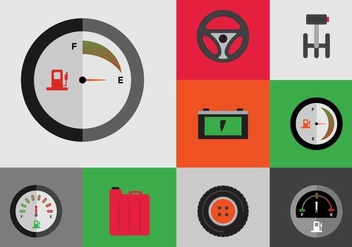 EARMARKED Free Car Icons Vector - vector gratuit #377563