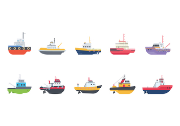 Free Tugboat Vectors - бесплатный vector #377643