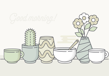 Vector Pastel Morning Elements - бесплатный vector #377653