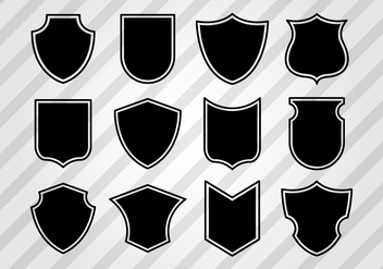 Free Vintage Shield Shapes Vector - vector gratuit #377683