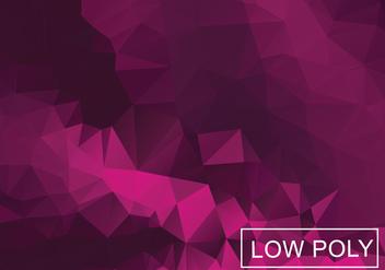 Magenta Geometric Low Poly Style Illustration Vector - vector gratuit #377833