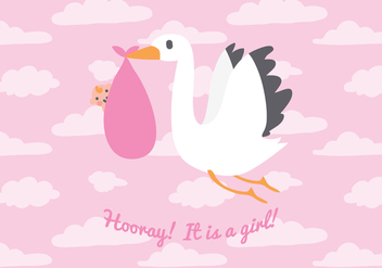 It's a Girl! Vector Background - Kostenloses vector #377883