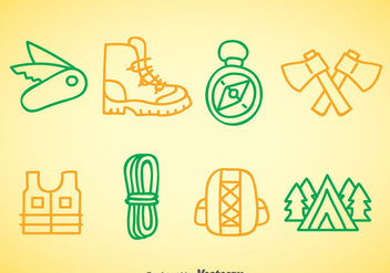 Mountaineer Doodle Icons - vector gratuit #377933