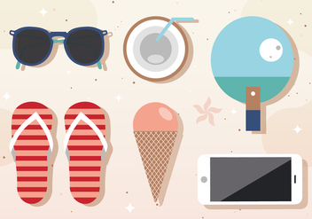 Free Vector Summer Components - Kostenloses vector #377963