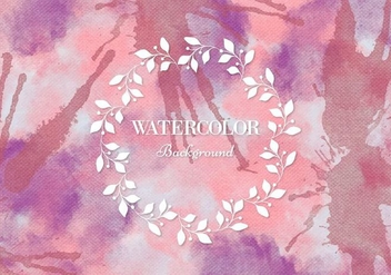 Free Vector Pink Watercolor Background - Free vector #377993