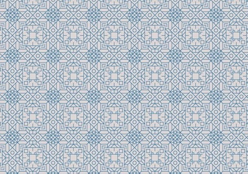 Decorative Outline Motif Pattern - vector #378023 gratis