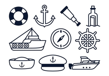 Free Nautical Elements - Free vector #378053