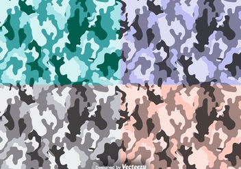 Multicam Vector Camouflage Seamless Pattern Set - vector gratuit #378123