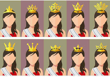 Pageant Crown Beauty contest queen - Free vector #378223
