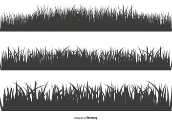 Grass Silhouette Shapes - Free vector #378303