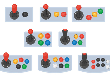 Arcade Button Vectors - vector #378333 gratis