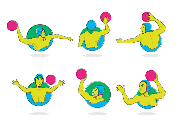 Water Polo Sport Vector - бесплатный vector #378373