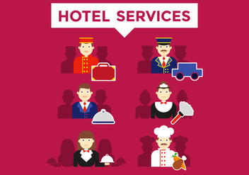 Concierge Hotel Services Illustrations Vector - vector gratuit #378403