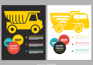 Free Dump Truck Vector Infographic - Free vector #378463