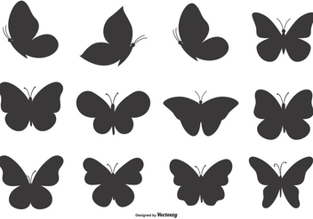 Butterfly Shape Set - Kostenloses vector #378503