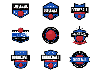 Free Dodge Ball Badges Vector - Kostenloses vector #378523