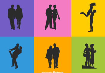 Free Vector Man And Woman Silhouettes - Kostenloses vector #378553