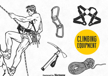 Free Vector Climbing Equipment Set - Free vector #378573