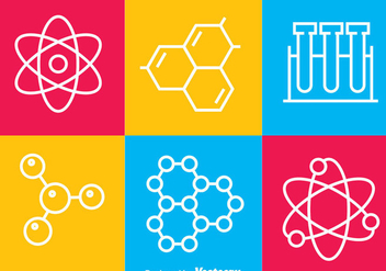 Science Line Icons - Free vector #378603