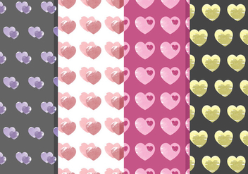 Vector Heart Patterns - Kostenloses vector #378753