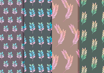 Vector Floral Branch Patterns - vector gratuit #378773