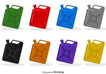 Icon Cans Of Engine Oil - Vector Set - бесплатный vector #378883