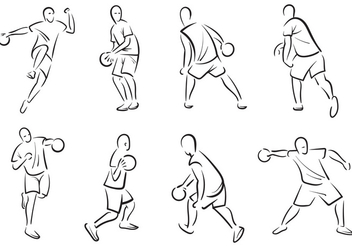 Free Dodgeball Player Vectors - бесплатный vector #378913