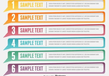 Design Clean Number VECTOR Banners Template - vector gratuit #378973