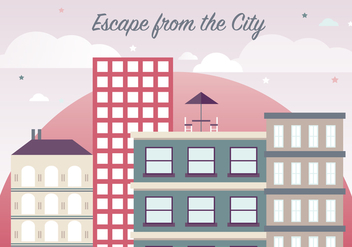 Free Flat Cityscape Vector Illustration - Free vector #379023