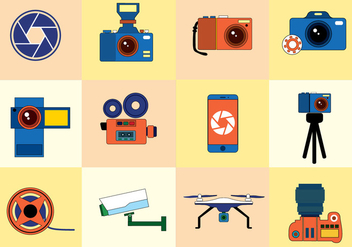 Free Photo Icons Vector - vector #379043 gratis
