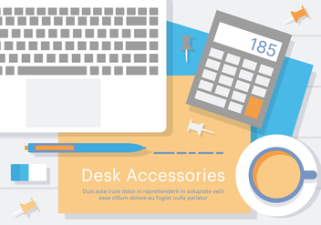 Free Business Desk Accessories - бесплатный vector #379113