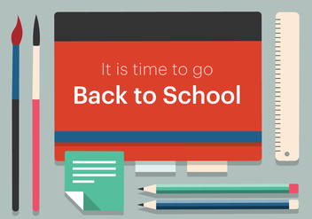 Free Back to School Vector Illustration - Free vector #379123
