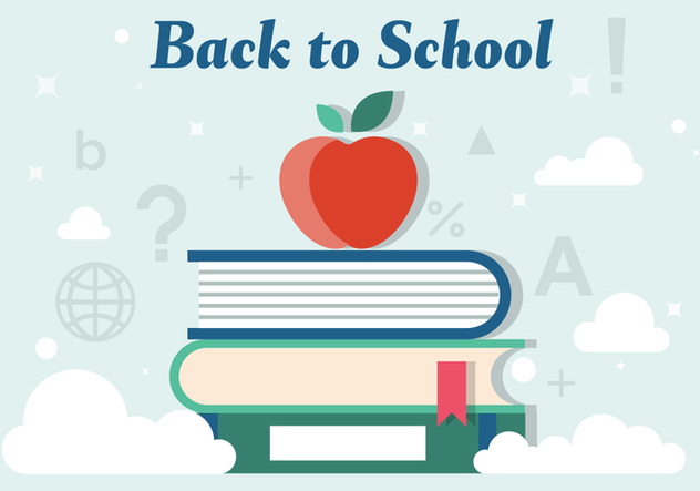 Free Back to School Vector Illustration - Free vector #379153