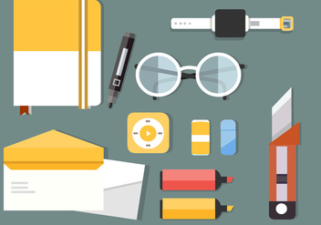 Free Business Office Vector Illustration - Free vector #379163