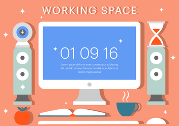 Free Workspace Vector Illustration - бесплатный vector #379173