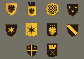 Blason Flat Icon Set - vector #379193 gratis