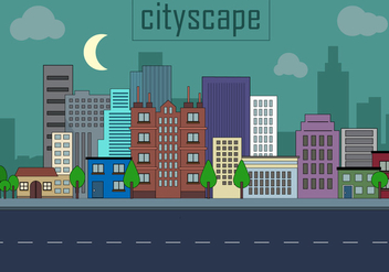 Free Urban Landscape Vector Illustration - vector gratuit #379213