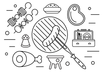 Family Picnic Illustration in Vector - Free vector #379273